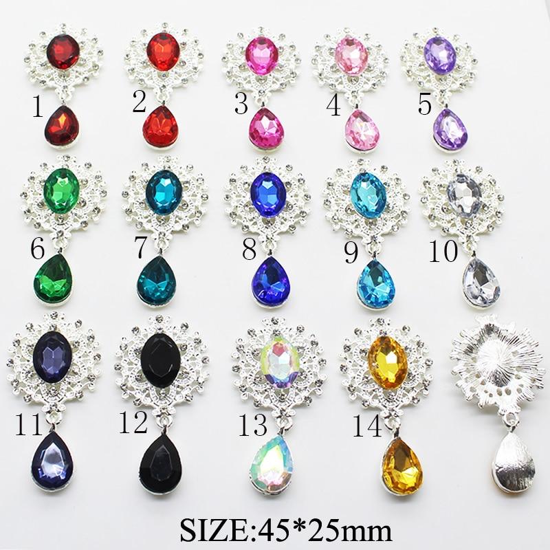 [해외]Delicate Shining Brooch 45*25mm 10pcs/set Crystal Accessories Fashion Gorgeous Wedding Invitation Holiday creative Decoration/Delicate S