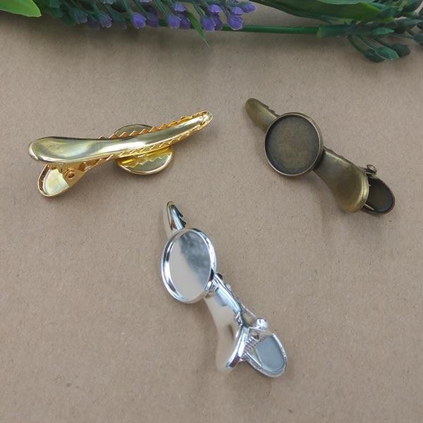 [해외]Cabochon 16mm Antique Bronze/Gold/Silver/Black Vintage Barrettes Hair Bobby Hairpins ,DIY Hairgrips Jewelry Finding Accessories/Cabochon 16mm Anti