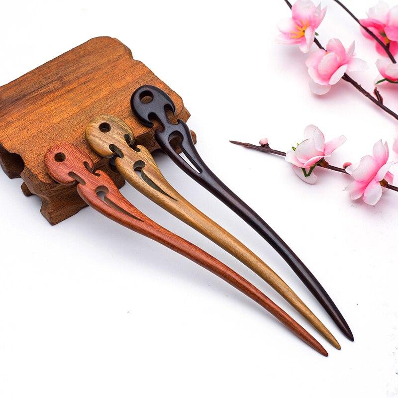 [해외]Vintage handmade sandalwood hair sticks for women Hair accessories jewelry Fashion hairpin wedding jewellery gifts 2018/Vintage handmade sandalwoo