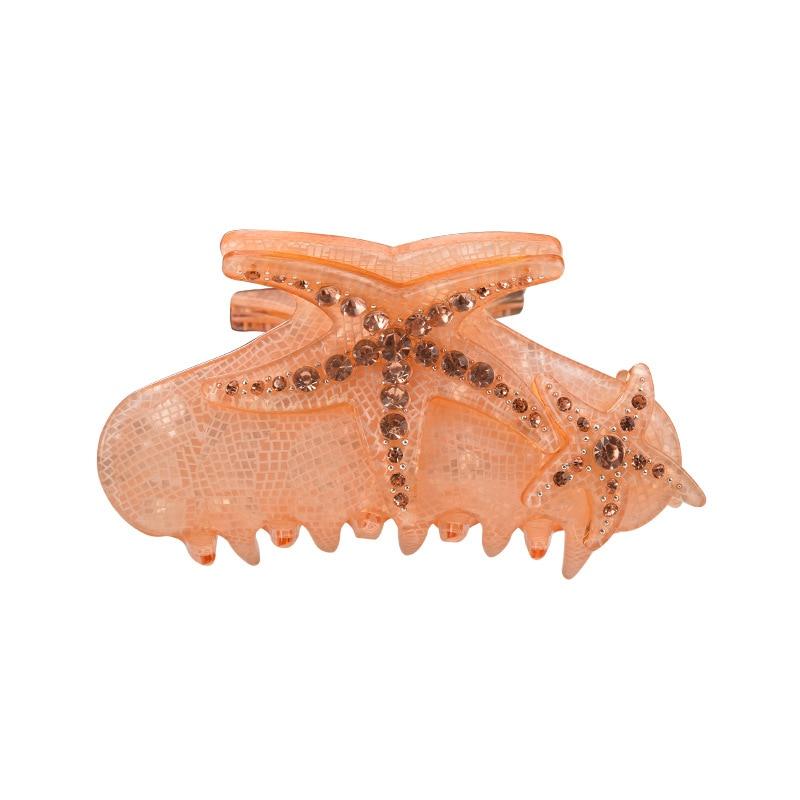[해외]Starfish Rhinestone Hair Claws Hair Jewelry for women hair ornament barrette crab clamp Peacock Headwear Hair Decoration crab/Starfish Rhinestone