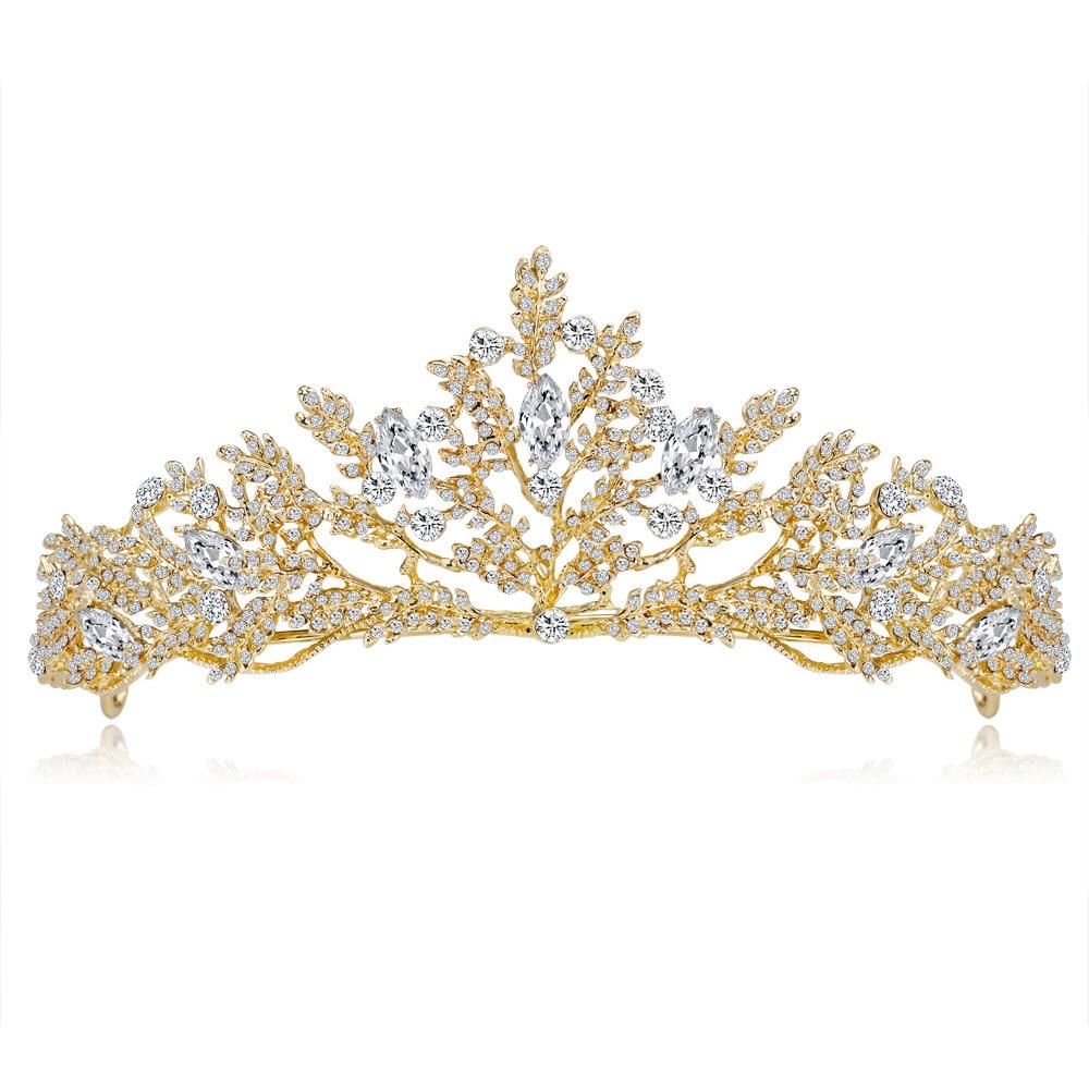 [해외]Vintage Women Wedding Hair Accessories Crowns Luxury Jewelry Bridal Headpiece Crown Rhinestone Tiaras and Crowns DA012/Vintage Women Wedding Hair