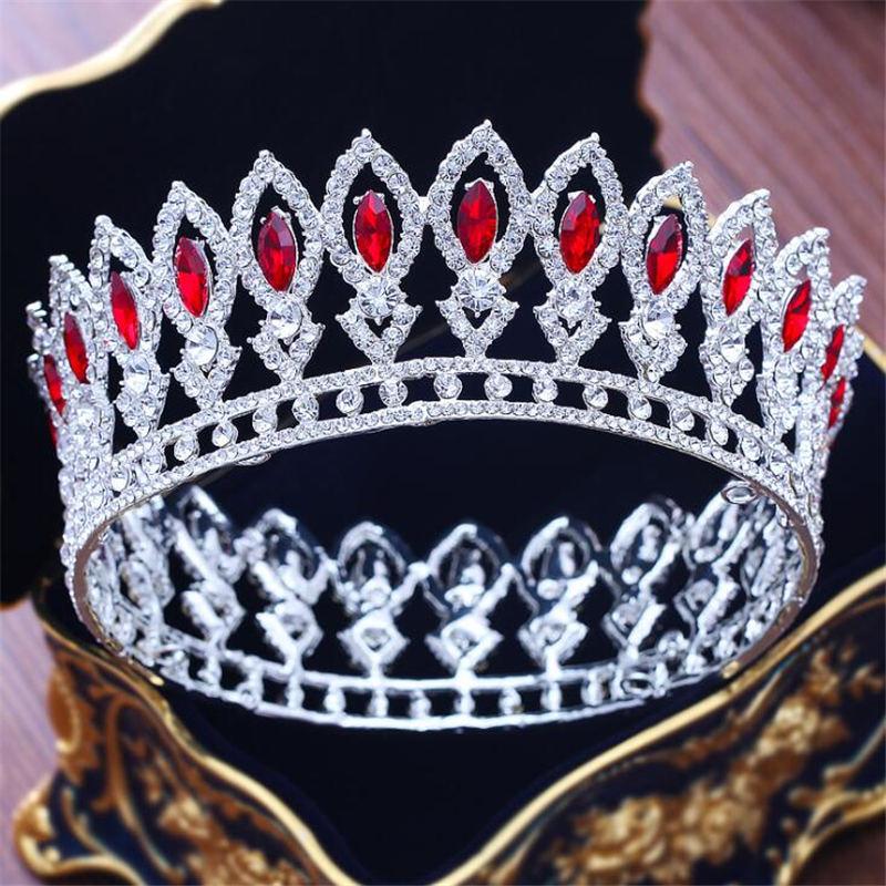 [해외]Luxury Crystal Rhinestone Crown Tiara Hair Jewelry Bridal Tiaras and Crown Queen King Hair Ornaments Pageant Wedding Accessories/Luxury Crystal Rh