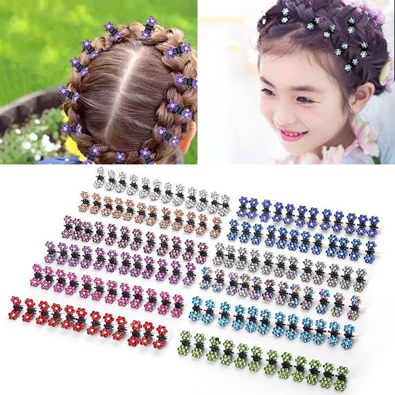 [해외]12 Pcs Women Flower Shape Mini Hair Claws Clips Clamps Girl Hair Accessories @M23/12 Pcs Women Flower Shape Mini Hair Claws Clips Clamps Girl Hair