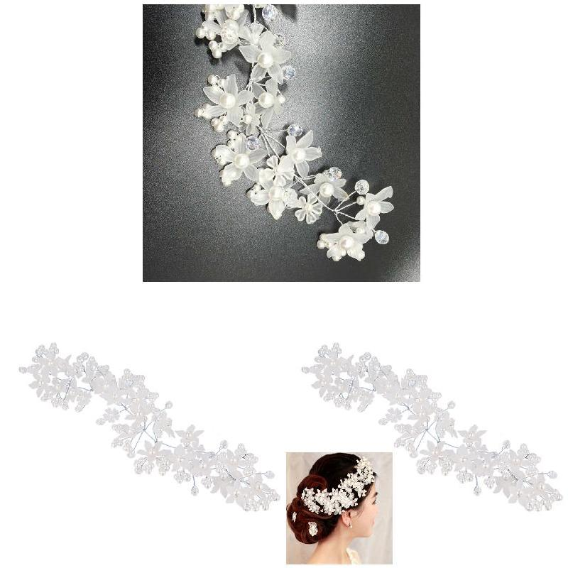 [해외]Fashion Crystal  Bride And Bridesmaid Handmade Frosted Pearl Decoration Headdress  Wedding Dress Accessories  HSJ88/Fashion Crystal  Bride And Bri