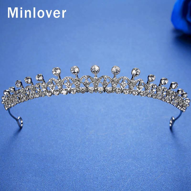 [해외]Minlover Rhinestone Bridal Tiaras Crowns for Women Bride Wedding Hair Accessories Princess Diadem Headband Hair Ornaments HG168/Minlover