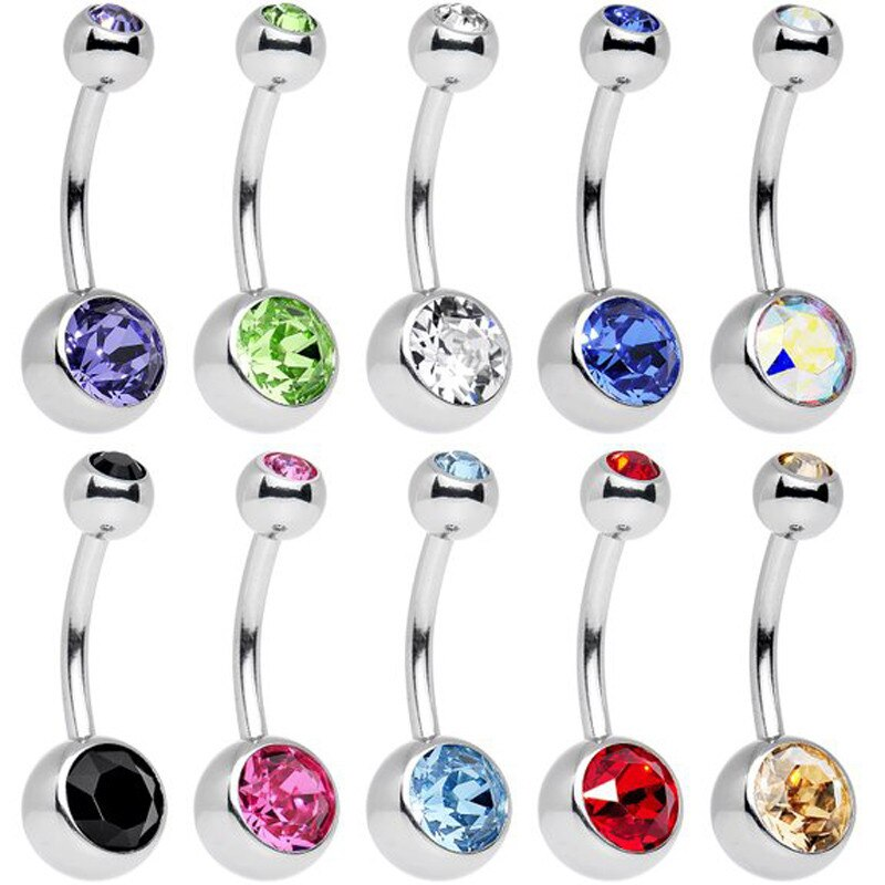 [해외]5001 10pc Piece Stainless Steel Assorted Colors Belly Button Ring  DROPSHIPPING New Arrival Freeshipping s/5001 10pc Piece Stainless Steel Assorte