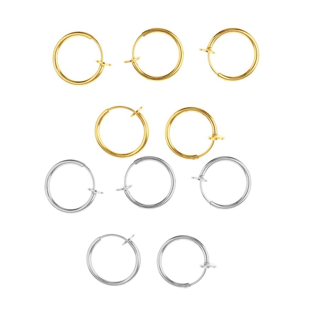 [해외]10pcs Fake Clip On Nose Ear Septum Lip Eyebrow Ear Loop No-piercing Ring/10pcs Fake Clip On Nose Ear Septum Lip Eyebrow Ear Loop No-piercing Ring