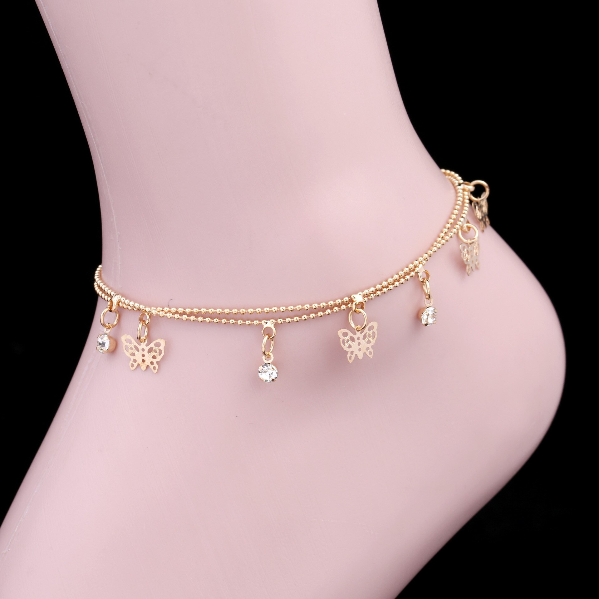 [해외]Anklets for women butterfly anklet Ms.Europe America fashion simple feet jewelry Anklets For Women Ankle Chain Leg Bracelet/Anklets for women butt