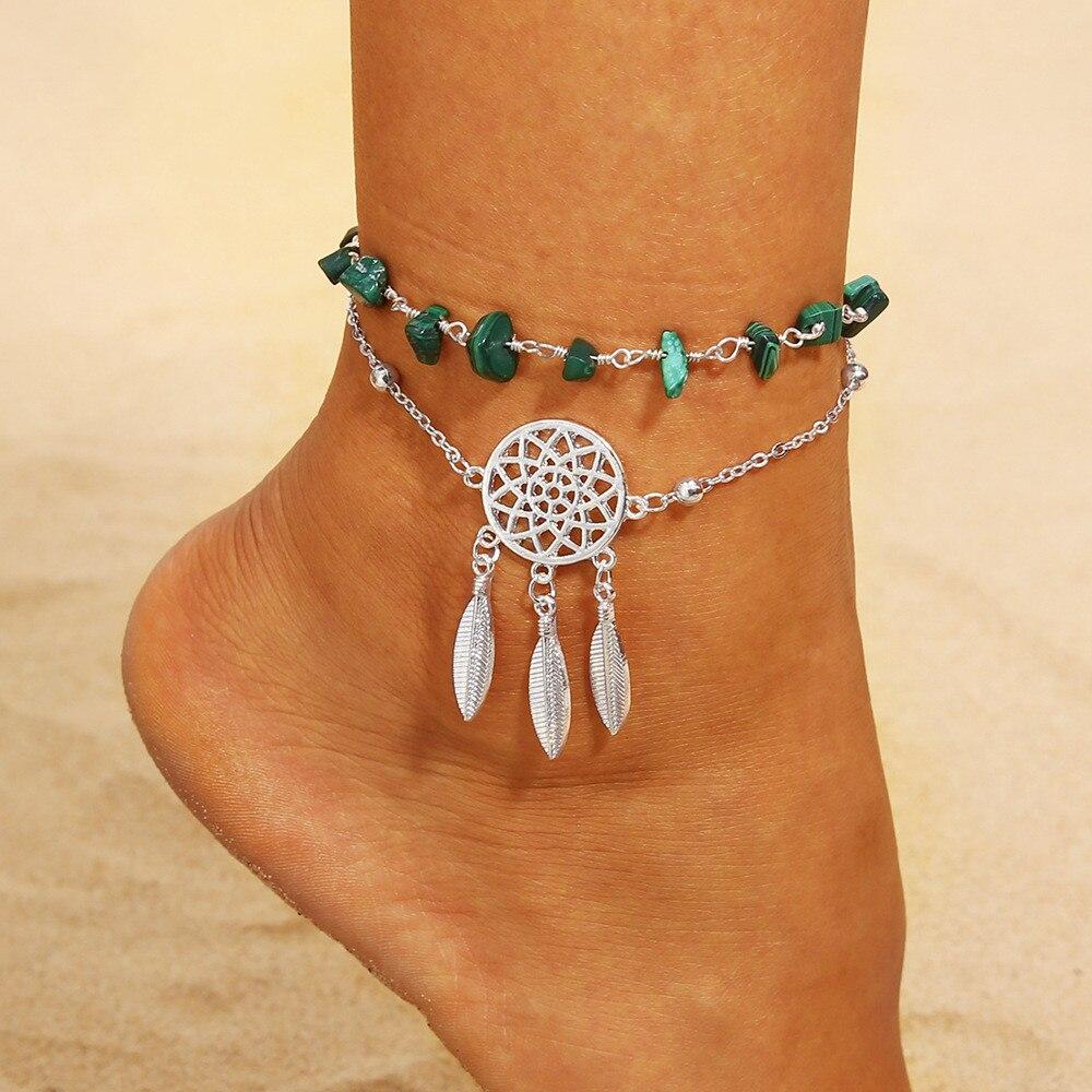 [해외]Chain Fruit Anklet Jewelry Beach Section Anklets Beads Boho Foot Gothic Bohemia Classic Foot Jewelry Metal Tassel Anklets/Chain Fruit Anklet Jewel