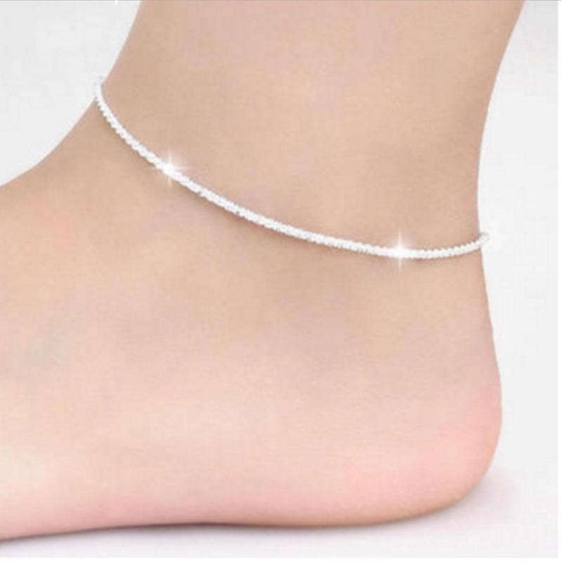 [해외]New fashion 925 Sterling Silver Ankle Chain Simple Gypsophila Chain Anklets For Women Jewelry Girl Gift/New fashion 925 Sterling Silver Ankle Chai