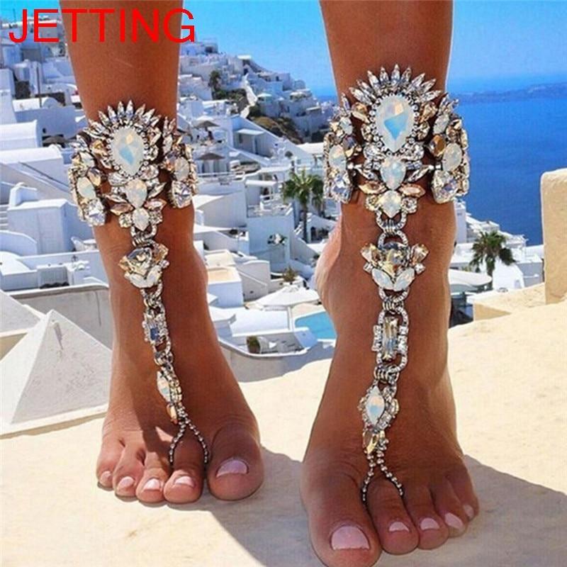 [해외]크리스탈 꽃 펜던트 발목 체인 발목 맨발 샌들 발 보석 1 pc/크리스탈 꽃 펜던트 발목 체인 발목 맨발 샌들 발 보석 1 pc
