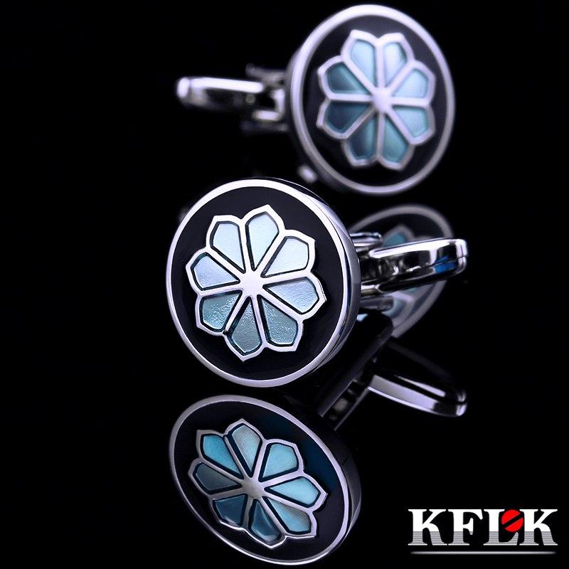 [해외]KFLK 2018 남성을럭셔리 HOT 셔츠 커프스 단추 브랜드 커프스 단추 패션 커프스 단추 blue gemelos abotoaduras Jewelry/KFLK 2018 Luxury HOT shirt cufflink for mens Brand cuff butto