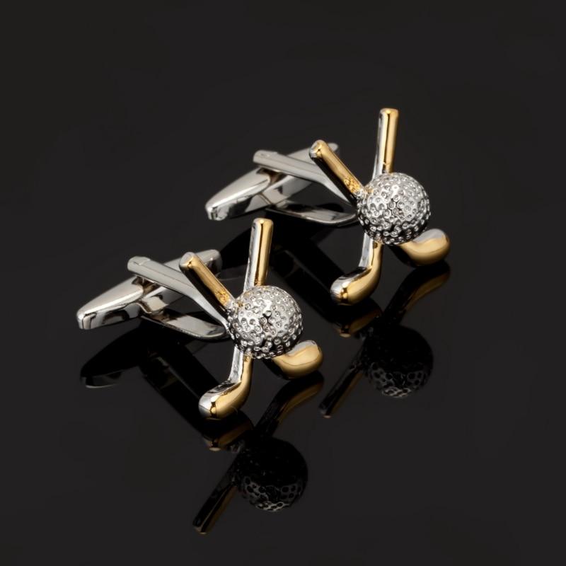 [해외]2017 쥬얼리 셔츠 커프스 단추 남성용 커프스 버튼 커프스 단추 맨체스터 골드 실버 골프 커프스 링크 abotoaduras Jewelry/2017 jewelry shirt cufflinks for mens Brand cuff button manchette go