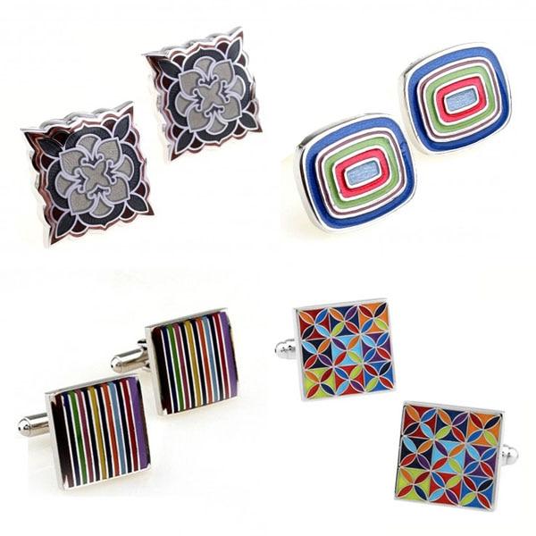 [해외]Fashion Colorful Enamel Epoxy Cufflink Cuff Link /Fashion Colorful Enamel Epoxy Cufflink Cuff Link