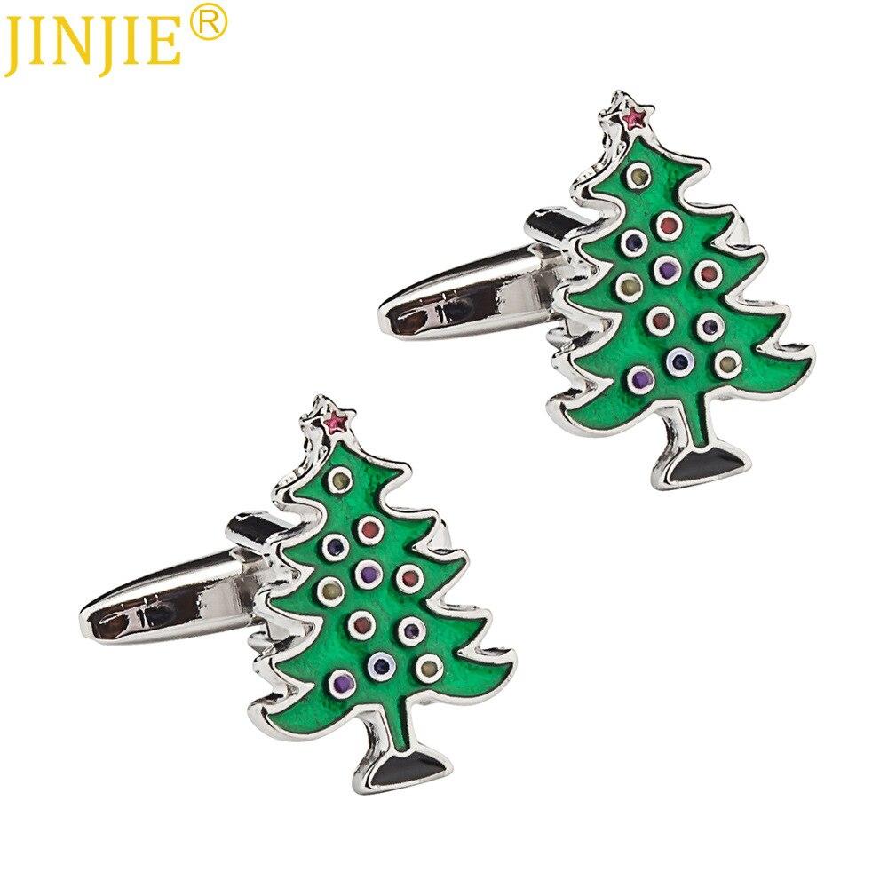 [해외]new Jewelry Christmas Cufflinks Christmas Tree Cuff Links Buckle Snowman Snowflake Series Christmas Accessories/new Jewelry Christmas Cufflinks Ch