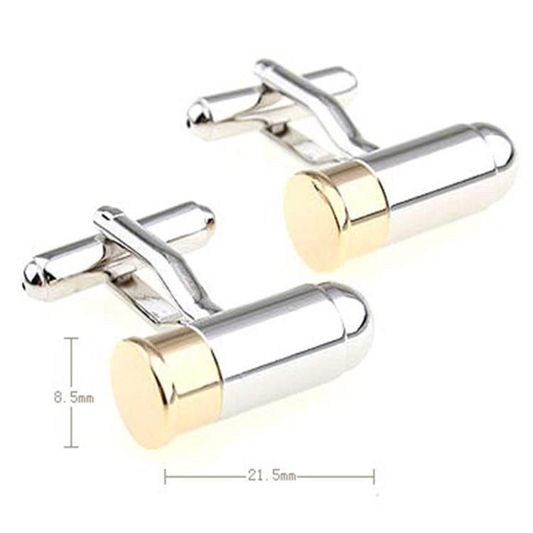 [해외]New 007 Silver Bullet Style Cufflinks Smooth Plain Metal Cuff Nails Men`s Business Casual French Shirt Cuff Button Gifts for Men/New 007 Silver Bu