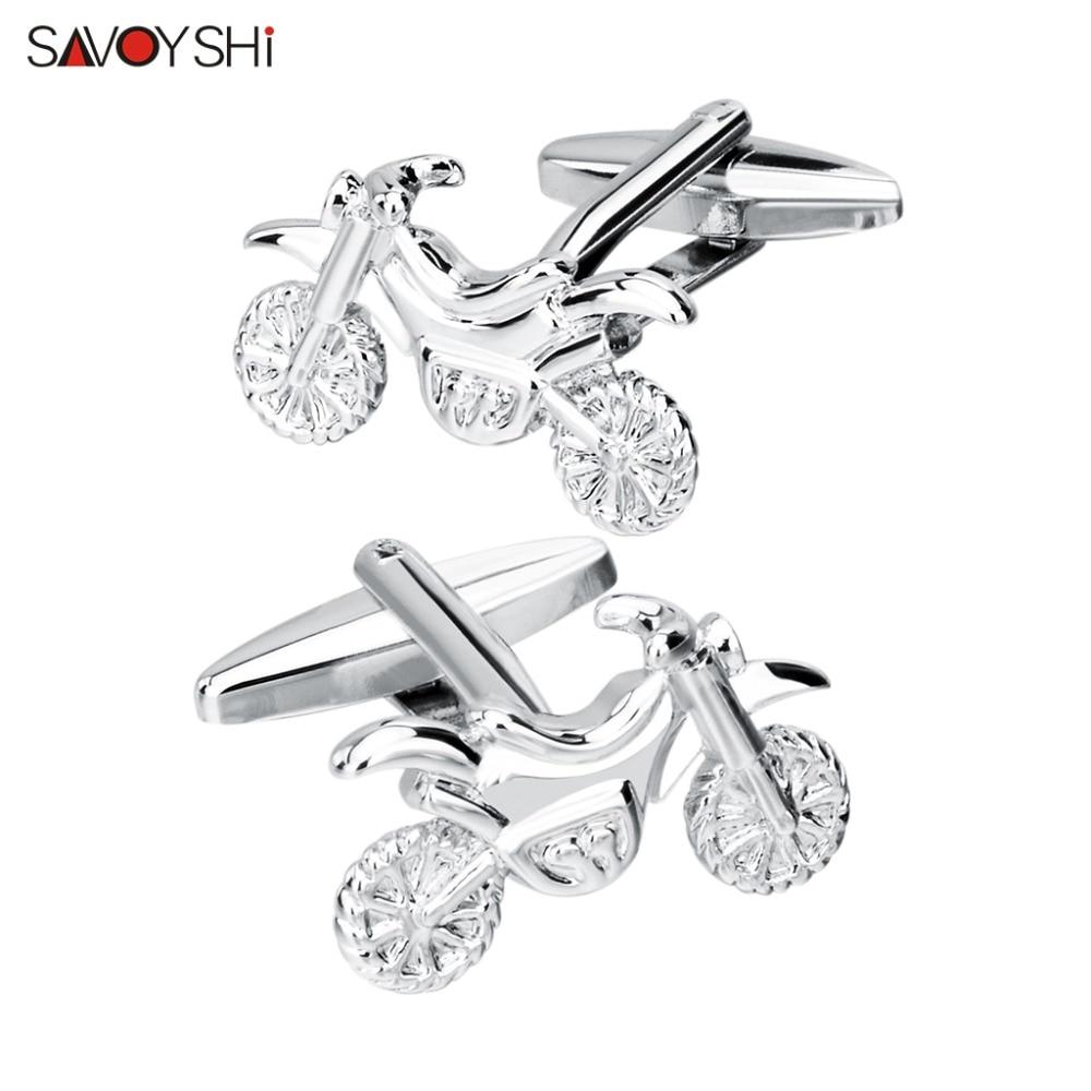 [해외]SAVOYSHI Jewelry shirt cufflinks mens designer Brand Silver Motorcycle Cuffs links wholesale Button  Wedding Gift/SAVOYSHI Jewelry shirt cufflinks