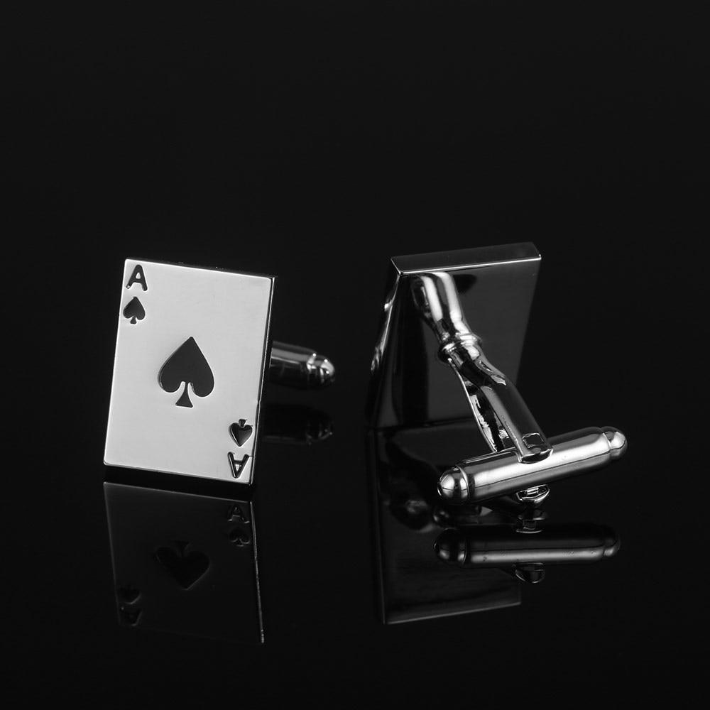 [해외]JHSL 3 Style Fashion Men`s Jewelry Silver Color Copper Poker Ace Cufflinks for Men Dropship Supplier/JHSL 3 Style Fashion Men`s Jewelry Silver Col