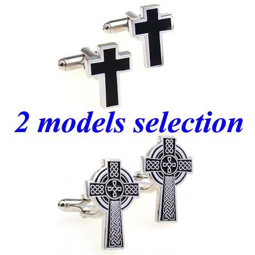 [해외]Fashion Black Cross Cufflink Cuff Link 1 Pair  Biggest Promotion/Fashion Black Cross Cufflink Cuff Link 1 Pair  Biggest Promotion