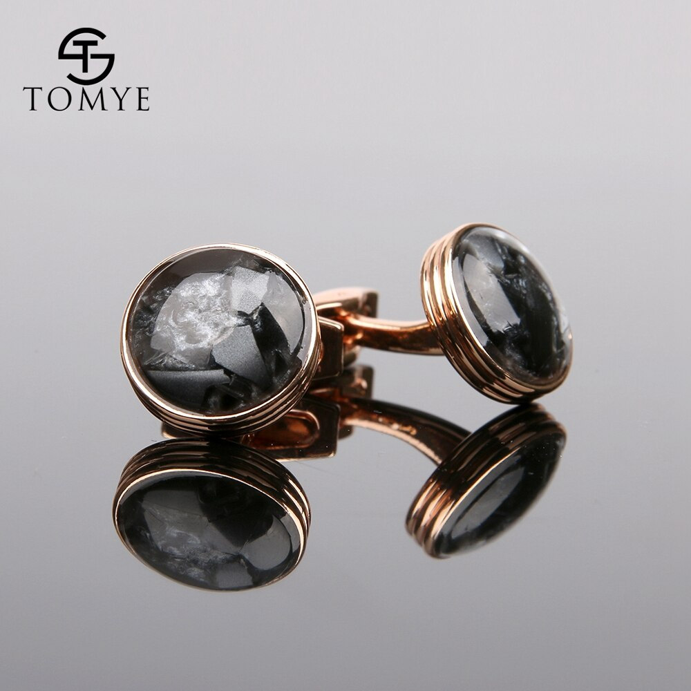 [해외]TOMYE Rose Gold High end Button Wedding Luxury Funny Cufflinks Men XK19S065/TOMYE Rose Gold High end Button Wedding Luxury Funny Cufflin
