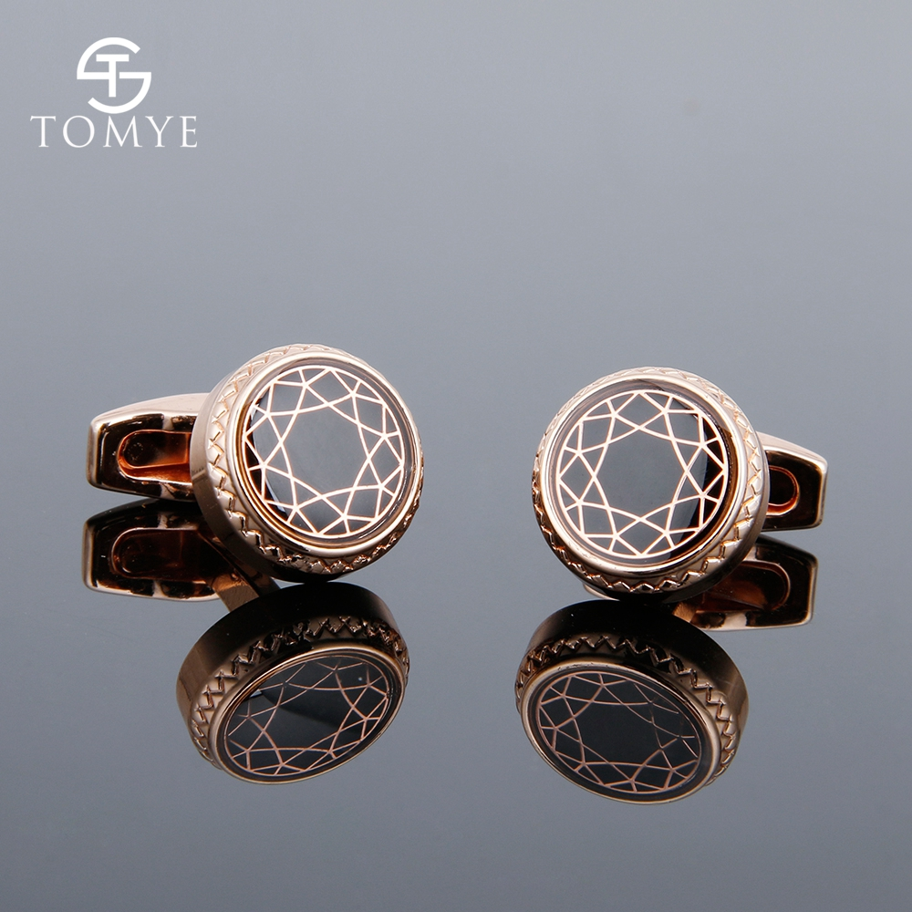 [해외]TOMYE Mens Cufflinks High Quality Rose Gold Round Metal Groom Vintage Shirt Cuff Links Wedding Gift XK19S103/TOMYE Mens Cufflinks High Q