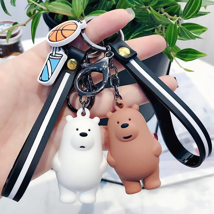 [해외]3 차원 인형 열쇠 고리 귀여운 3 곰 체인 펜던트 자동차 키 체인 커플 가방 DIY 열쇠 고리 핑 2112/Three-Dimensional Doll Key Chain cute three Bear chain Pendant Car Keychain Couple Ba