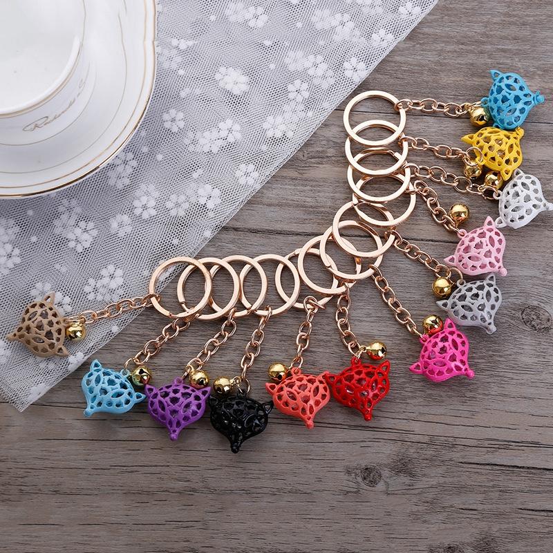 [해외]5PCs / set 혼합 된 색상 빈 폭스 펜 던 트 키 체인 KeyRing, 가방 펜 던 트 장식 자동차 가방 액세서리 키 링/5PCs/set Mixed color Hollow Fox pendant keychain KeyRing, Bag Pendants Dec