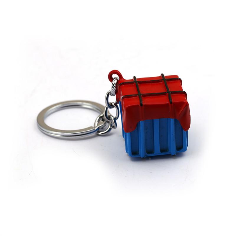 [해외]새로운 게임 Pubg 키 체인 PUBG Airdrop 박스 열쇠 고리 블루 컬러 Keyring llaveros 남성용 여성용 여성용 가방 선물 장난감 쥬얼리 Chaveiro/New Game Pubg Keychain PUBG Airdrop Box Key Chain