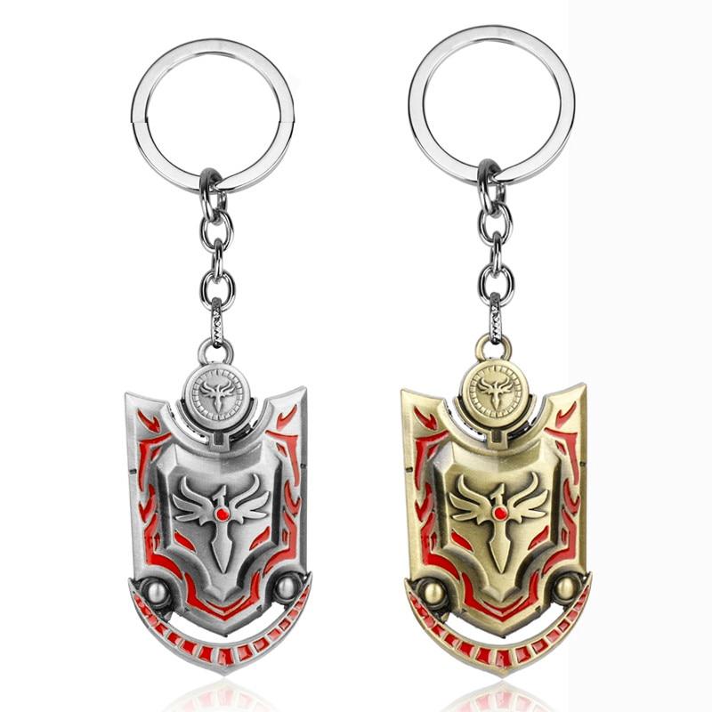 [해외]LOL 주얼리 키홀더 오로라 황혼 방패의 여신/LOL Jewelry Keychain Aurora the goddess of Twilight Shield Key Ring