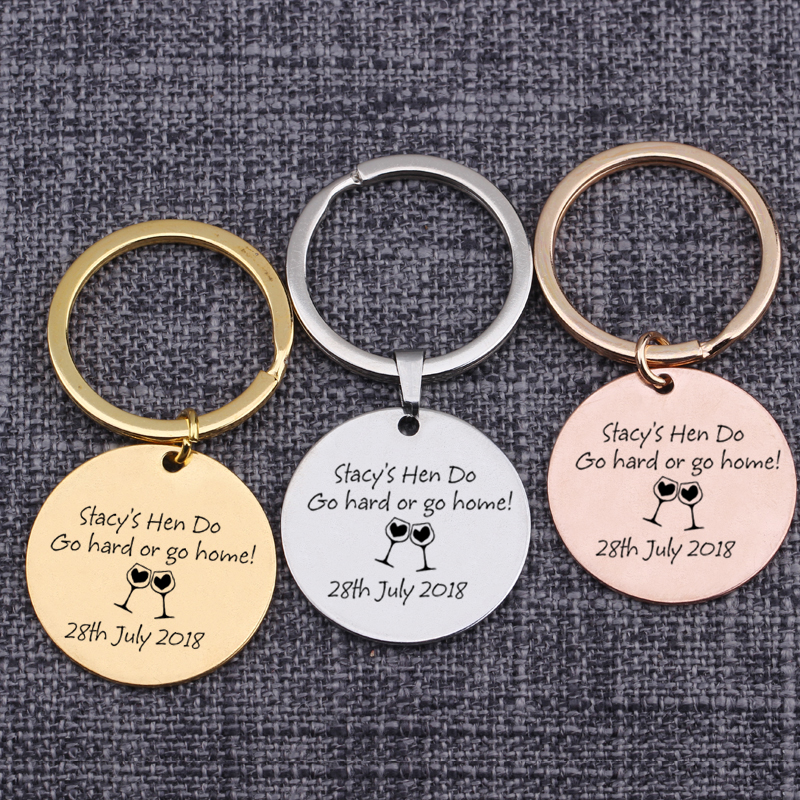 [해외]Custom Name Keychain Lovers Gift For Couples Keyrings Engraved Go Hard Or Go Home Customized Date Personality Bag Charm Key Tag/Custom Name Keycha