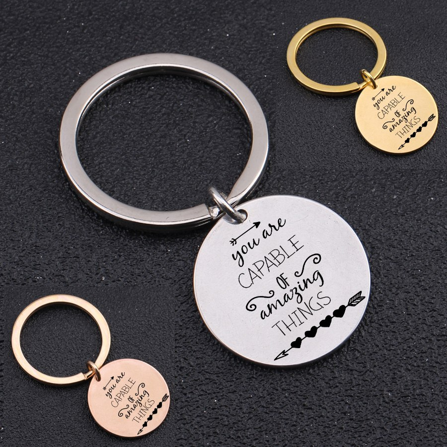 [해외]Inspirational Keychain Engraved\
