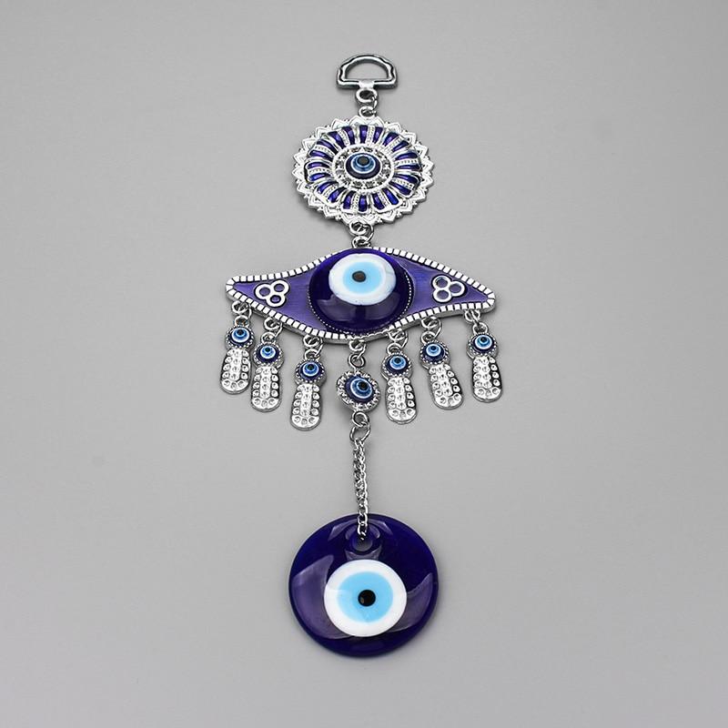 [해외]1pc Turkey Evil Eye Keychain Alloy Tassel Wall Hanging Glass Charms Keychain Home Decoration Jewelry Lucky Gift Pendant/1pc Turkey Evil Eye Keycha