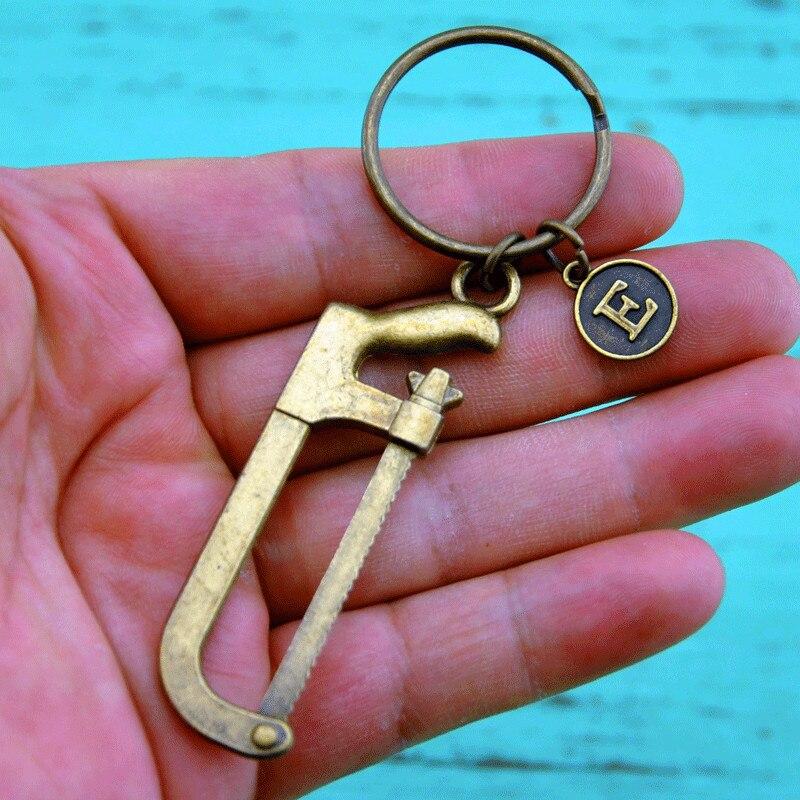 [해외]Hand Saw keychain, Gift for Grandpa, Gift for dad, Gift for boyfriend, Personalized Key chain - Initial Key chain,Saw Keychain/Hand Saw keychain,