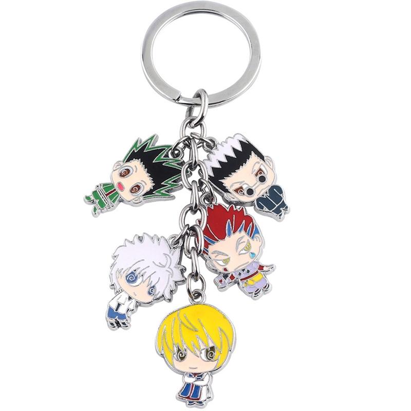 [해외]jewelry Anime Hunter x Hunter Keychain  Metal Figures Keyring Fahsion Car Key Chain/jewelry Anime Hunter x Hunter Keychain  Metal Figures Keyring