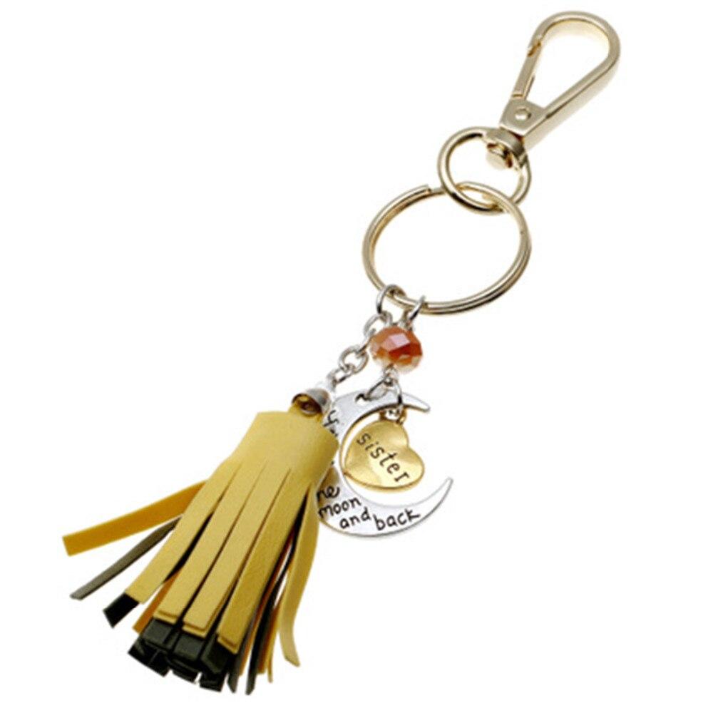 [해외]8Seasons Polyester Keychain & Keyring Tassel Gold Color Yellow Heart \
