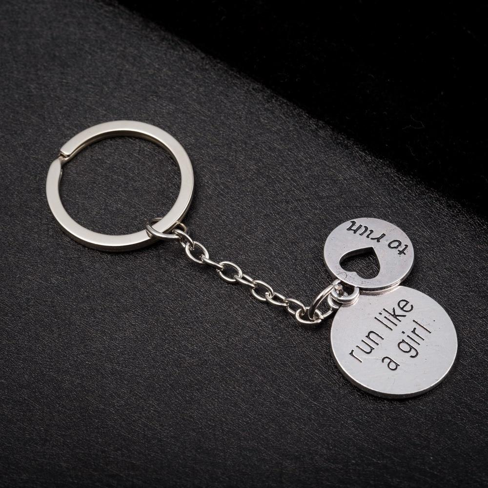 [해외]Skyrim  Sport Girl women purse bag keychain To Run Letter and Cheerleader pendant key chain ring holder Easter gift jewelry /Skyrim  Sport Girl wo