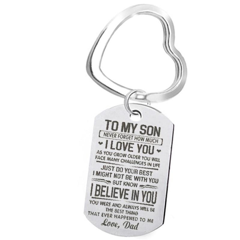 [해외]아빠의 사랑에서 내 아들 군사 레터링 키 체인에 유럽과 미국의 패션 가족 키 체인 액세서리 휴일 선물/아빠의 사랑에서 내 아들 군사 레터링 키 체인에 유럽과 미국의 패션 가족 키 체인 액세서리 휴일 선물