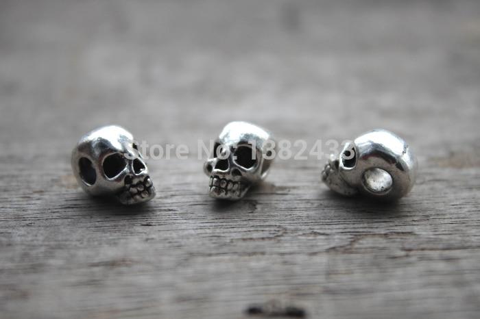 [해외]15pcs--Skull Beads, Antique Tibetan silver Head skull bead Charm pendant, Day of the Dead 15x9X8mm/15pcs--Skull Beads, Antique Tibetan silver Head