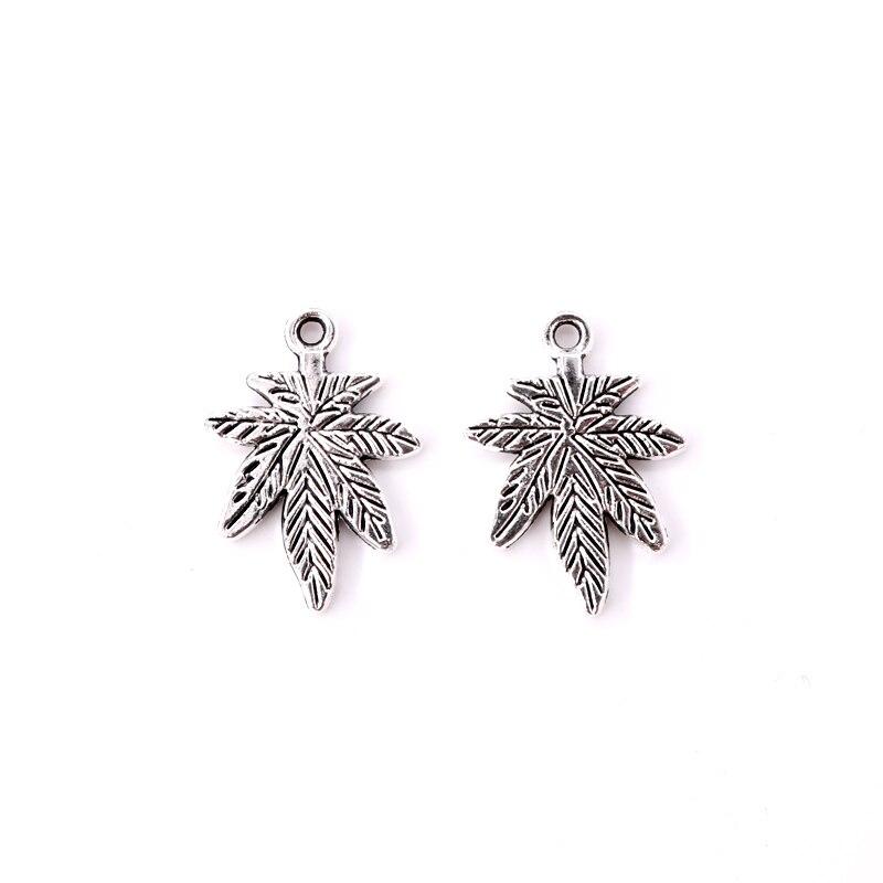 [해외] 20pcs/lot Fashion Antique Leaf Zinc Alloy Metal Beads 18x25mm Findings for Handmade Jewelry Necklace Pendant DIY Beads / 20pcs/lot Fashion Antiqu
