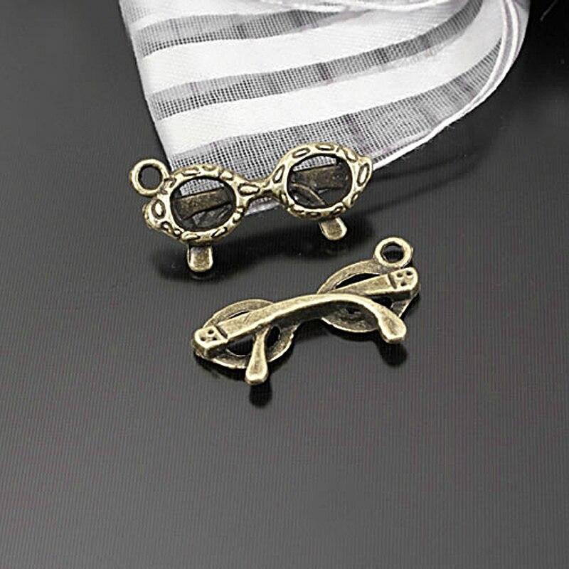 [해외](23308)50PCS 21x9MM Antique Bronze Zinc Alloy Sunglasses Charms Pendants Jewelry Findings Accessories/(23308)50PCS 21x9MM Antique Bronze Zinc Allo