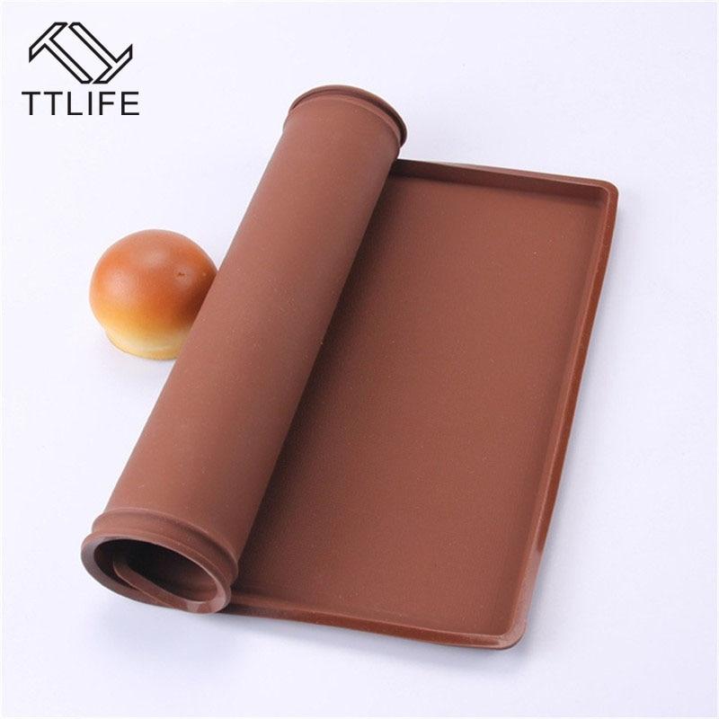 [해외]Ttlife 스위스 롤 매트 도구 nonstick 베이킹 과자 실리콘 베이킹 러그 매트 실리콘 몰드 케이크 패드 베이킹 도구 주방 accessorie