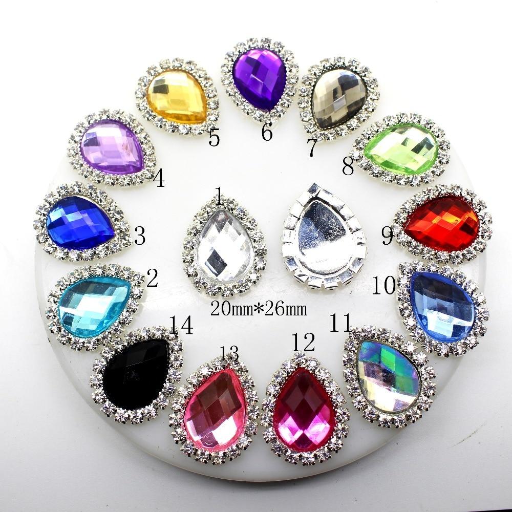 [해외]YWXINXI Hot  10Pcs/Lot 20*25mm Diy Rhinestones Jewelry Accessories For Hand Made New Fashion Shiny Cabochon Setting Supplies/YWXINXI Hot