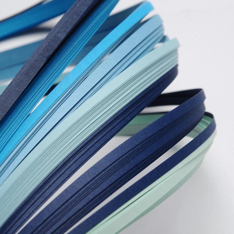 [해외]1Bag 6 Colors Blue Quilling Paper Strips Origami Paper for DIY Home Decoration, 390x3mm; about 120strips/bag, 20strips/color/1Bag 6 Colors Blue Qu