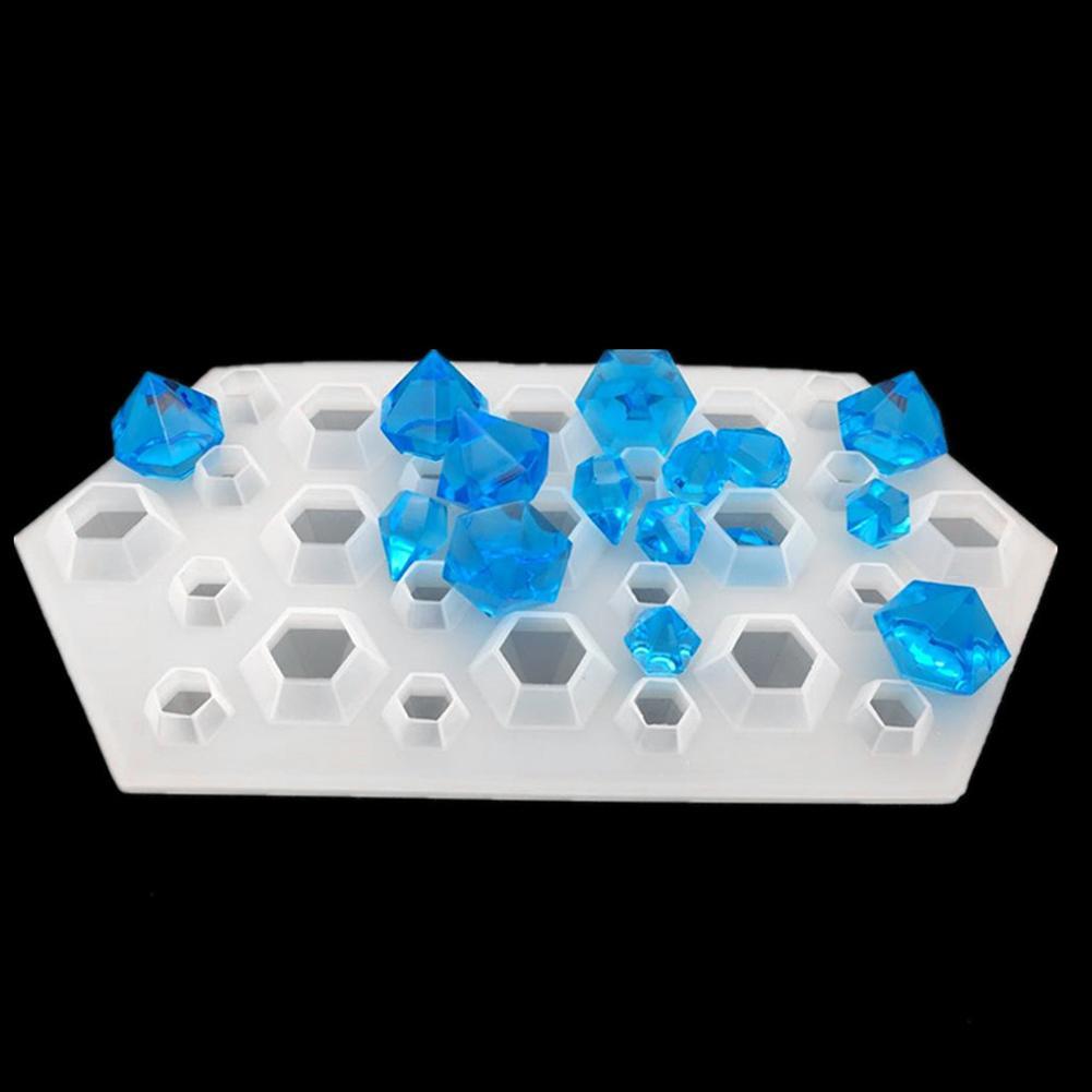 [해외] Diamond Shape Silicone Mold Necklace Pendant DIY Resin Craft Tool Jewelry Making/ Diamond Shape Silicone Mold Necklace Pendant DIY Resin Craft To