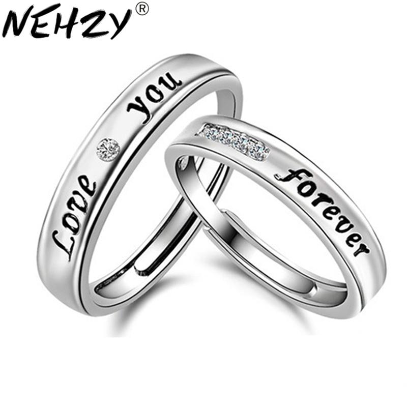 [해외]NEHZY 에폭시 LOVE 영어 실버 영원 반지 남성과 여성 커플 모델 링 개방 링 크리스탈 보석에 대한/NEHZY Epoxy LOVE English Silver eternity ring for men and women couple models ring open