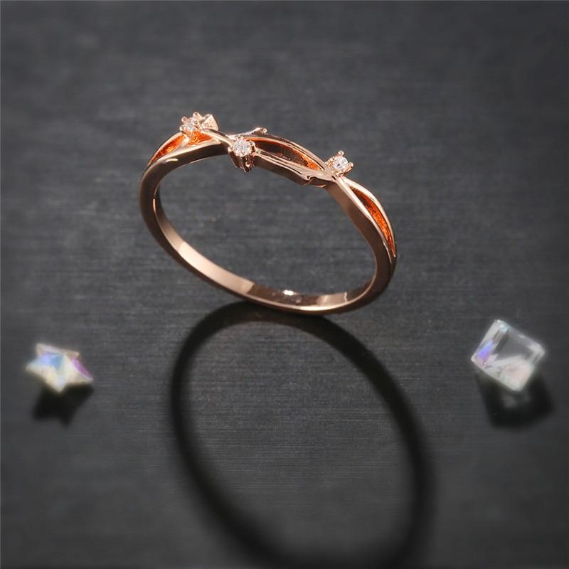 [해외]ROMAD 로즈 골드 반지 여성 엘프 반지 엘프 손가락 반지 AAA CZ 웨딩 액세서리 신부 약혼 반지 R4/ROMAD Rose Gold Rings for Women Elves Rings Elf Finger Ring AAA CZ Wedding Accessorie