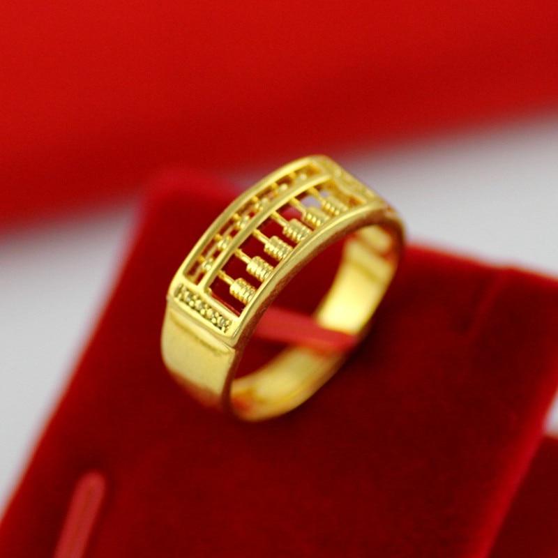 [해외]/2018 New Sand Golden Copper Wishful Abacus Opening Adjustable Ring For Men and Women Jewelry Crafts Accessories