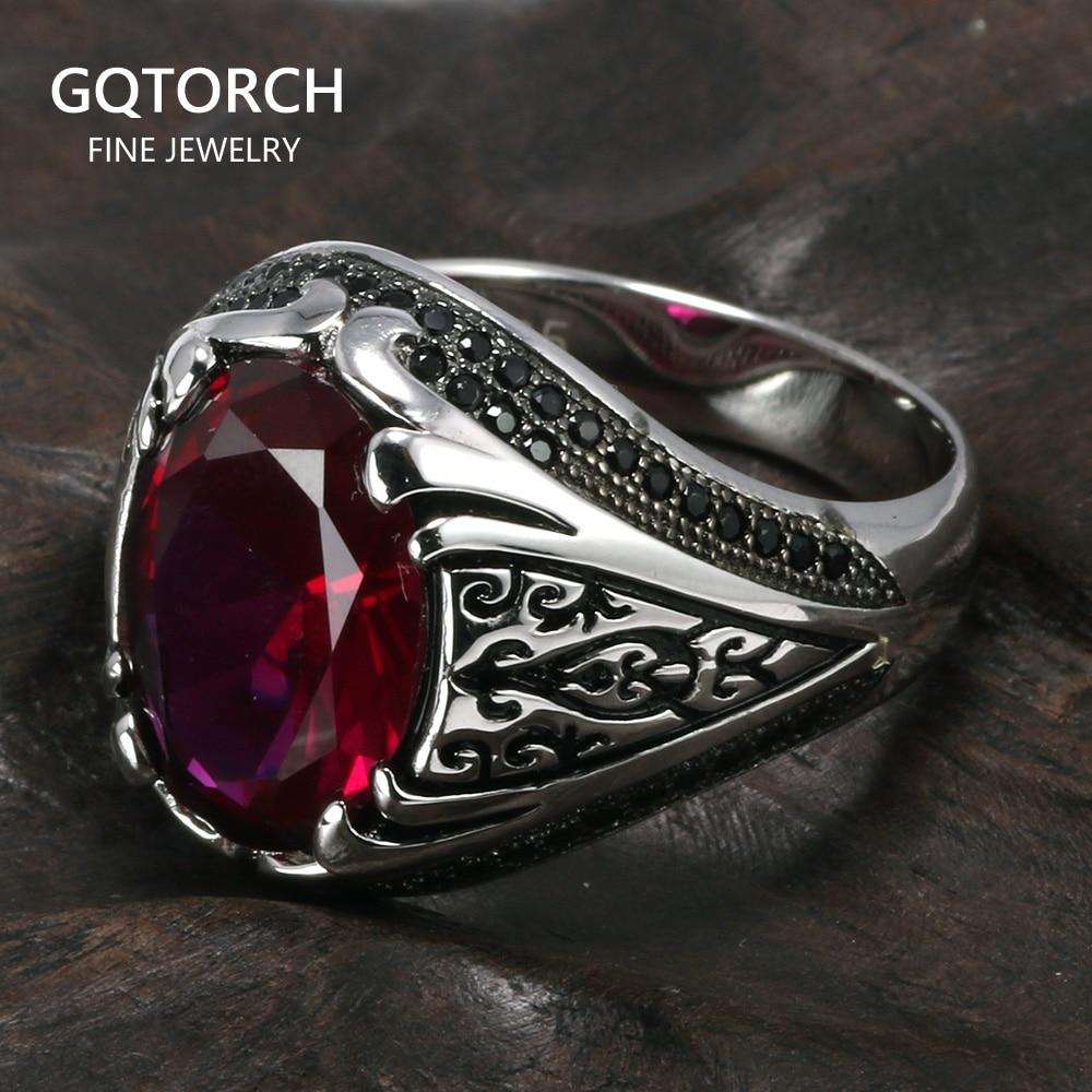 [해외]/Guaranteed 925 Silver Rings Luxury Turkish Jewellery For Men And WomenZircon Stone Retro Vintage Rings In Fijne Sieraden