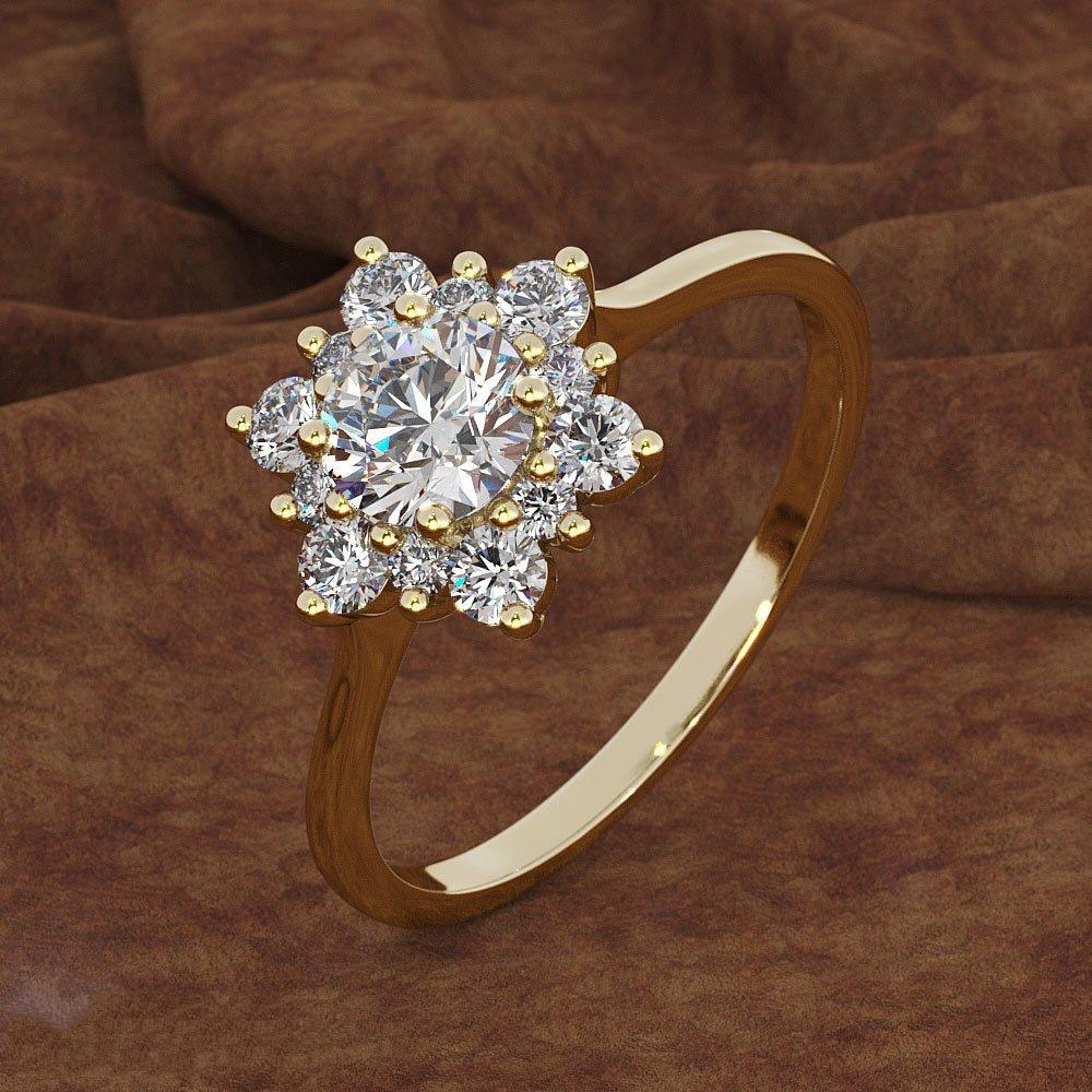 [해외]/8Seasons New Fashion Women Engagement Rings Gold/Silver Color Rhinestone Snowflakes Flower Antique Ring Jewelry Gifts Size 6-10