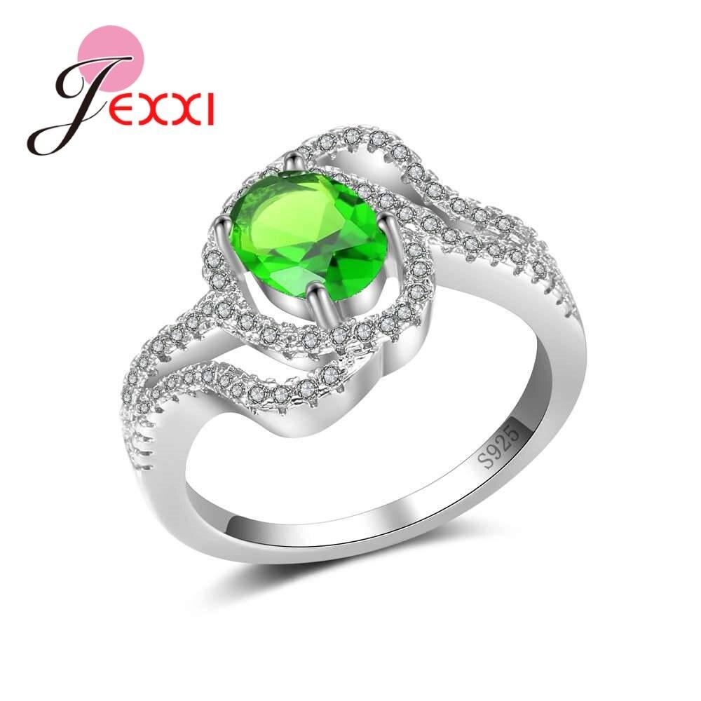 [해외]JEXXI Fashion Wedding Jewelry Women Bride Ring Paved  Austrian Crystals 925 Sterling Silver Bague Femme Accessories/JEXXI Fashion Wedding Jewelry